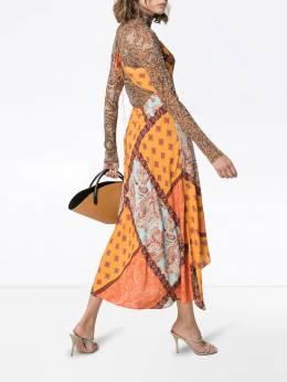 Esteban Cortazar - платье миди с принтом пейсли CLEDRESS089368559395