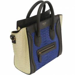 Celine Tricolor Python and Leather Nano Luggage Tote 200383