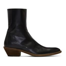 Haider Ackermann Black Ault Cowboy Boots 192542M22800204GB