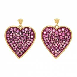 Versace Pink Medusa Heart Pendant Earrings 192404F02202001GB