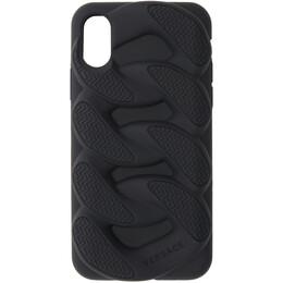 Versace Black Chain Reaction iPhone X Case 192404M15300301GB