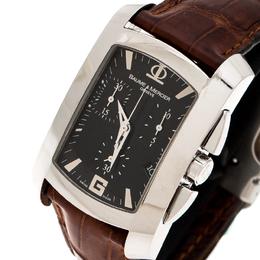 Baume&Mercier Black Stainless Steel 65448 Chronograph Men's Wristwatch 30 mm 210343