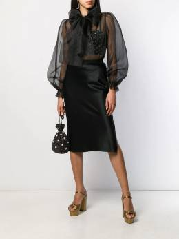 Dolce&Gabbana - прозрачная блузка с бантом 63TFU9BU950565350000
