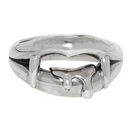Yohji Yamamoto Silver Vampire Blood Ring 192573M14700101GB