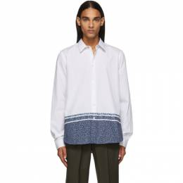 Ps by Paul Smith White Floral Tailored Shirt M2R-610P-A20684