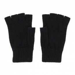 Paul Smith Black Wool Fingerless Gloves 192260M13500901GB
