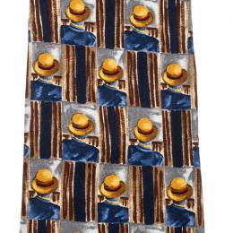 Dunhill Multicolor Hat Print Silk Traditional Tie