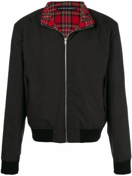 Y / Project plaid layer bomber jacket JACK32S15F74S15