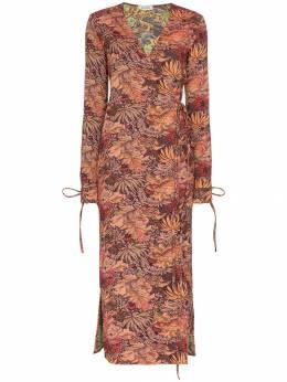Attico - жаккардовое платье макси 98909936606380000000