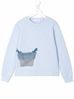 Familiar purse applique sweatshirt 483301