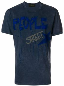 Mr & Mrs Italy washed text-print T-shirt TS132E