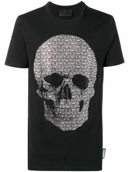 Philipp Plein - футболка с заплаткой с логотипом CMTK3650PJY660N93569