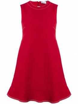 Red Valentino - платье прямого кроя с вырезными деталями VAA96LCC935055900000