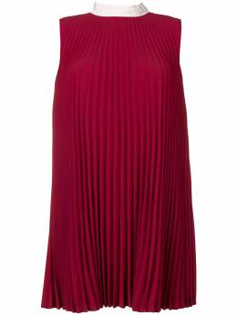 Red Valentino - плиссированное платье прямого кроя VAA36DIP936055080000