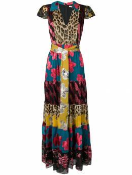Alice+Olivia - длинное панельное платье с поясом 90B00590936633950000