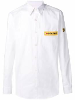 Golden Goose - рубашка с нашивкой-логотипом MP500A39358968600000
