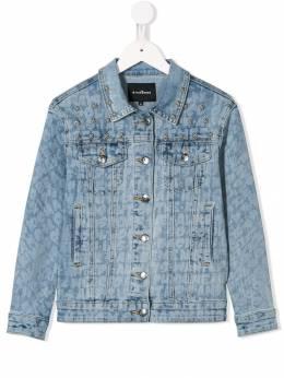 John Richmond Junior джинсовая куртка с принтом RGP19085GBFE