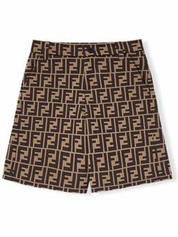 Fendi Kids - шорты с логотипом 'FF' 936A69J9358696000000