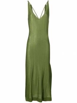 Esteban Cortazar - облегающее платье с завязками на плечах 95936858960000000000