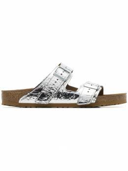 Rick Owens сандалии с эффектом металлик из коллаборации с Birkenstock BM19S2898LSLV