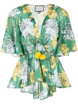 Alexis блузка со шнурком на талии и цветочным узором A518001095043