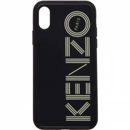 Kenzo Black Glow-In-The-Dark Logo iPhone X/XS Case 192387M15300801GB