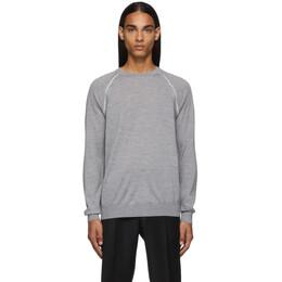 Ermenegildo Zegna Grey Wool Raglan Sweater 192264M20100403GB