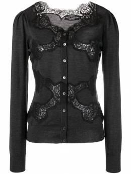Dolce&Gabbana - lace panel cardigan 56TJAVHJ930696390000