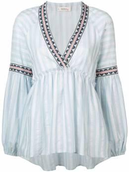 Lemlem блузка Nefasi в полоску с баской R1929