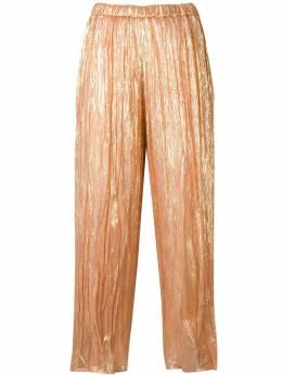 Forte Forte - плиссированные брюки с эффектом металлик 0MYPANTS938999690000