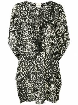 Saint Laurent - платье с леопардовым принтом 898Y366N936363050000
