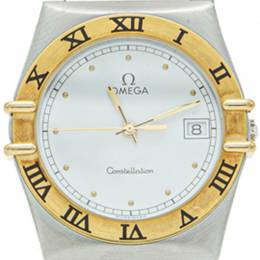 Omega White Yellow Gold & Steel Constellation Watch 35MM