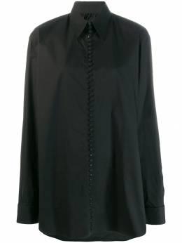 Mm6 Maison Margiela - рубашка оверсайз с надписью DL6665S5309593986599
