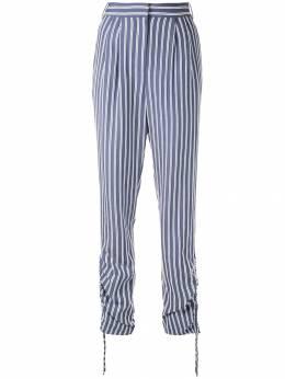 Tibi - присборенные брюки в полоску 9SH36959339656500000