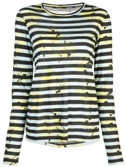 Proenza Schouler полосатая футболка с цветочным принтом R1934021JCP12