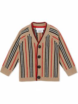 Burberry Kids кардиган в полоску Icon Stripe 8012985