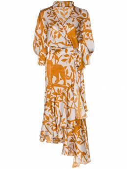 Johanna Ortiz - платье с запахом и принтом Journal of a Traveller RNALOFATRAVELERV9503