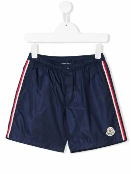 Moncler Kids - striped sports shorts 00655330690390983000