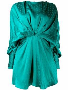 Attico - платье мини с драпировкой и принтом WCA63V66695903363000