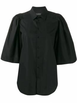 Neil Barrett блузка с оборками на рукавах PNCM271M030
