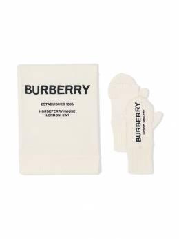 Burberry Kids - перчатки с шарфом 59659595585500000000