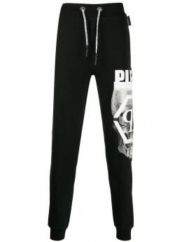 Philipp Plein - спортивные брюки с принтом Skull CMJT9969PJO660N95653