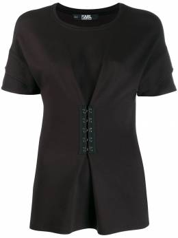 Karl Lagerfeld - футболка с баской и крючками W9366999939336980000
