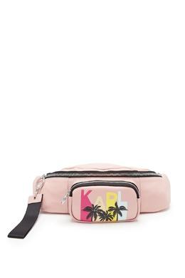 Розовая поясная сумка с отделкой Karl Lagerfeld 682142118