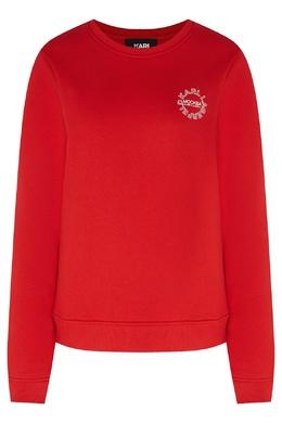 Красный свитшот с круглым логотипом Karl Lagerfeld 682142073