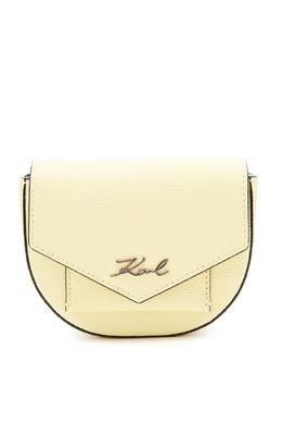 Поясная сумка лимонного оттенка Karl Lagerfeld 682142133