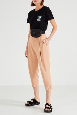 Черная футболка с принтом на кармане Karl Lagerfeld 682142075