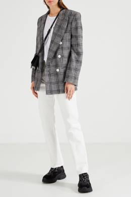 Белая футболка с принтом на кармане Karl Lagerfeld 682142088