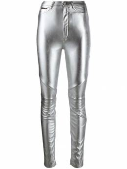Philipp Plein - байкерские брюки с завышенной талией CWRT6633PTE663N95655