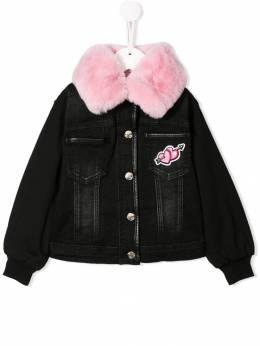 Monnalisa джинсовая куртка со вставками 194104R94015